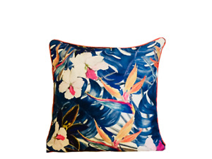 """Neon Tropical Water Resistant Large Outdoor Garden Cushion Cover Only 19"""""""