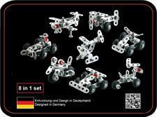 Tronico Metallbaukasten 8-in-1 Multibaukasten 8 Modelle