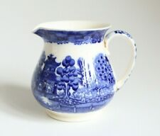 More details for spode copeland vintage blue and white willow milk jug / creamer 9.5cm tall