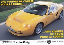 HOMMELL BERLINETTE RS Sportscar Coupe Frankreich Prospekt Brochure Sheet 10