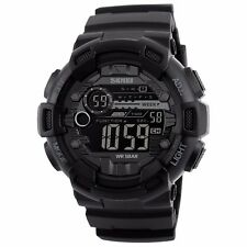 Shock Water Proof Mens Digital Date Alarm LED Military Army g Sport Wrist Watch