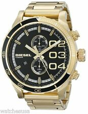 Diesel Men's Double Down Analog Display Analog Quartz Gold Watch DZ4337
