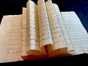 1783 VERY OLD PAPER MANUSCRIPT - 16 pages