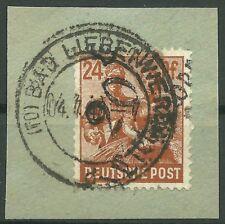 SBZ Bezirkshandstempel MiNr. 174 IV aus 20 Bad Liebenwerda Briefstück gepr. Kalb