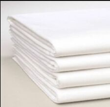 KING SIZE FLAT SHEET, WHITE, Ex Hotel, Defect. Suitable for craft,quilt material