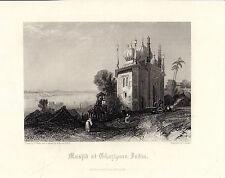 Antiguo Impresiones De La India-El musjid en ghazipore (c1870)