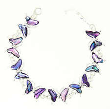 Purple Abalone Paua Shell Butterfly Bracelet In Gift Box - Gift Boxed