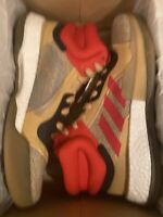 adidas Marquee Boost Beige Gold Scarlet Red G27742 size 13 EUR 48 Basketball