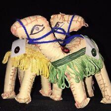 2 Vintage ? Handmade CAMELS Leather NATIVITY Figures Ornaments SOUVENIRS