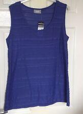 Ladies Purple Sleeveless Smart Top from Wallis Size 14 New