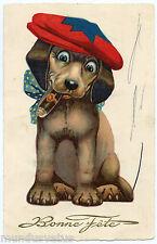 CHIEN FUMANT LE CIGARE. TECKEL. DOG. DACHSHUND. HUND. DOG SMOKE CIGAR.