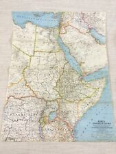 1963 Vintage Map of Africa The Nile River Delta Original National Geographic