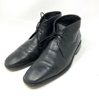 Cole Haan Black Leather Chukka Ankle Boots Mens Sz 9.5 Lace Up