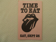 Rolling Stones-Meal Pass JFK Stadium- Sept 26, 1981- lunch 2nd day - color pink