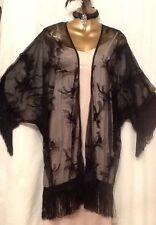 20s Lace Kimono Flapper Black New Look Size 16