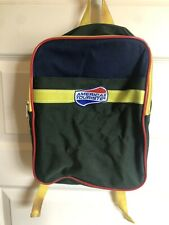 Vintage American Tourister Kids Backpack Red Green Yellow