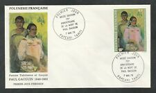 French Polynesia C159, 50f Paul Gauguin FDC