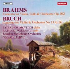 1-CD BRAHMS / BRUCH - CONCERTOS - MORDKOVITCH / WALLFISH / LONDON SYMPHONY ORCHE