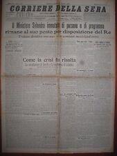 CORRIERE DELLA SERA  17/5/1915  Il Ministero Salandra rimane al suo posto