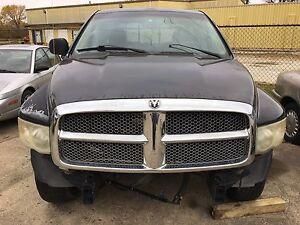 02-10 Dodge Ram 1500 2500 3500 Dodge HOOD with GRILLE Assembly BLACK