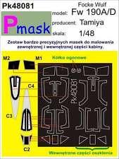 Focke-Wulf FW-190 A / D PITTURA maschera per TAMIYA KIT # 48081 1/48 pmask