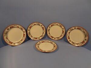 BISTO (BISHOP & STONIER) ORIENTAL IVORY PATT C4138, 5 X TEA/SIDE PLATES  1920'S