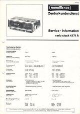 NORDMENDE - vario clock 4.171 A - Service Information Schaltbild - B3084