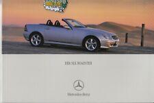 Mercedes   SLK Roadster R170 - Prospekt Brochure 01- 2001  -54 Seiten