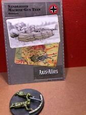 Axis & Allies D-Day #: 35/45 Sandbagged Machine-gun Team