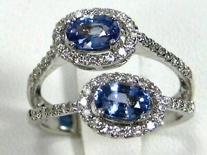 Sapphire Ring 14K white gold VS Ceylon GIA Appraised Rare Heirloom $4,358