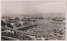 THE HARBOUR - ST HELIER - ELEVATED VIEW - JERSEY - RP - POSTCARD USED 1948