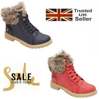 Kids Winter Shoes Fur Lined Snow Boots Boys Girls Toddler Ankle Warm Shoes New