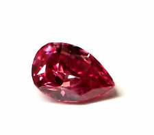 Real 0.19ct Natural Loose Fancy Vivid Purple Pink Color Diamond GIA Pear SI2
