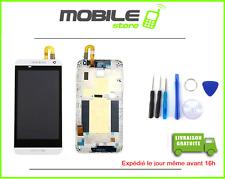 ECRAN LCD + VITRE TACTILE + CHASSIS FRAME pour HTC DESIRE 610 BLANC + OUTIL