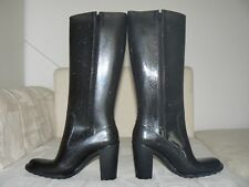 Romika Damen Gummistiefel Rubber Boots Wellies high heel Größe 40 schwarz