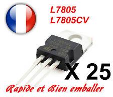 25x Regulateurs de Tension +5V ST L7805 L7805CV TO220