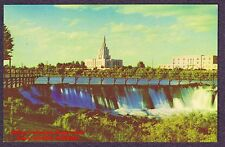 Postcard  LDS MORMON TEMPLE  Church Latter Day Saints SNAKE RIVER FALLS ID 1960s