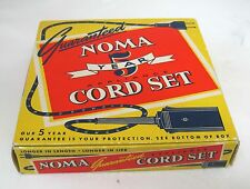 Vintage Noma 5 Year Appliance Cord Switchless Black 415 Clean Old Paper Box Only