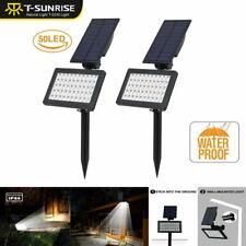 2Pack 50LED Outdoor Waterproof Solar Power Garden Lamp Spotlight Lawn Landscape