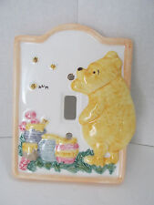 Disney Classic Winnie-The-Pooh Ceramic Light Switch Plate Cover by Charpente