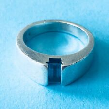 Retired James Avery Sterling Silver 925 Blue Topaz Ring Size 5