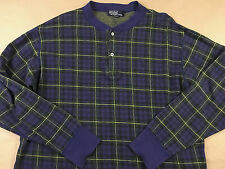 Vintage POLO RALPH LAUREN USA 80s 90s 2 Button Henley Collar Pullover Shirt Sz L