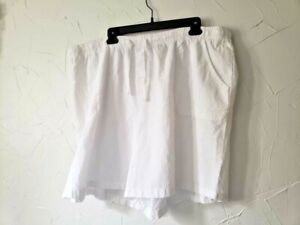 Women's Basic Editions Relaxed Fit Garment Dyed Shorts 2X Drawstring Waist