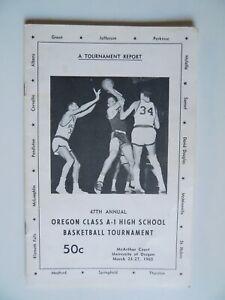 1965 Oregon HS Basketball Tourney Report Klamath Falls Sunset Parkrose Thurston