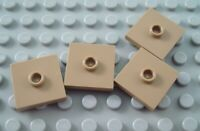 New LEGO Lot of 4 Dark Tan 2x2 Tile Parts with Top Center Stud