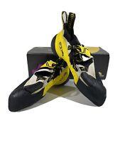 La Sportiva Men's Solution Rock Climbing Shoe 10.5 Us White/Yellow X4-1507