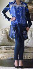 VERSACE Multicoloured Long Silk dress-y blouse/shirt/top It 44,US 8-10,UK12,M-L
