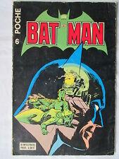 BATMAN POCHE 6  SAGE 1977 RARE