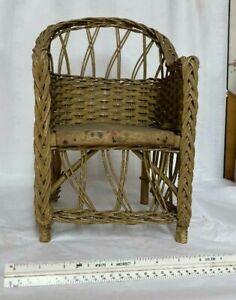 Vintage Wicker Babydoll Chair
