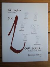 6 Low Solos for Bassoon and Piano by Hughes *NEW*  Publisher Emmerson E10